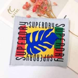 2021 New design woven colorful tag woven clothing labels