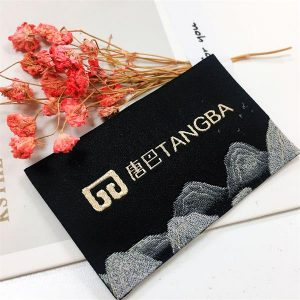 Hot sale high quality 30D woven main label clothing tag for jacket
