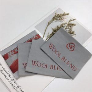 High density end fold labels custom polyester woven label for garments and bags