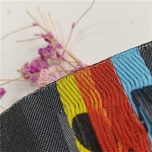 New design colorful woven damask clothing tag