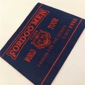 High quality 30D woven brand logo customized woven labels